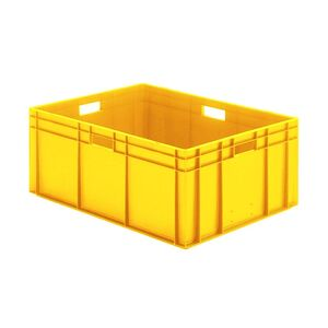 Transportkrat Euronorm plastic bak, krat TK0 800x600x320 geel