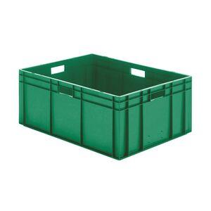 Transportkrat Euronorm plastic bak, krat TK0 800x600x320 groen