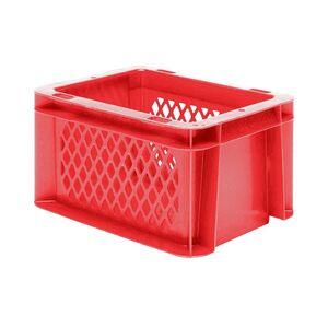 Transportkrat Euronorm plastic bak, krat TK1 200x100x120 rood