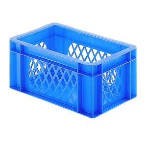Transportkrat Euronorm plastic bak, krat TK1 300x200x145 blauw