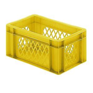 Transportkrat Euronorm plastic bak, krat TK1 300x200x145 geel