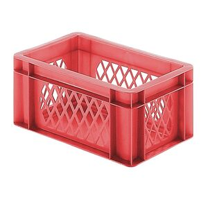 Transportkrat Euronorm plastic bak, krat TK1 300x200x145 rood