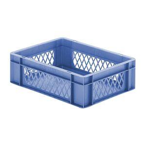 Transportkrat Euronorm plastic bak, krat TK1 400x300x120 blauw
