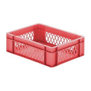 Transportkrat Euronorm plastic bak, krat TK1 400x300x120 rood