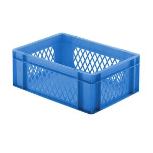 Transportkrat Euronorm plastic bak, krat TK1 400x300x145 blauw