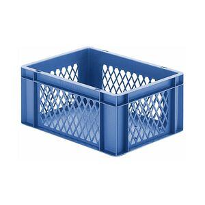 Transportkrat Euronorm plastic bak, krat TK1 400x300x175 blauw