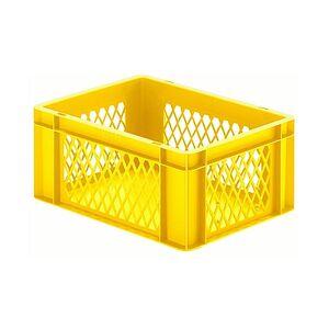 Transportkrat Euronorm plastic bak, krat TK1 400x300x175 geel
