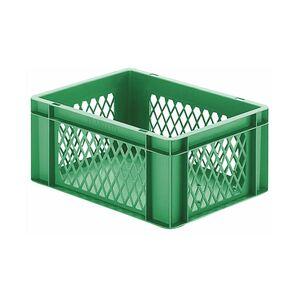 Transportkrat Euronorm plastic bak, krat TK1 400x300x175 groen