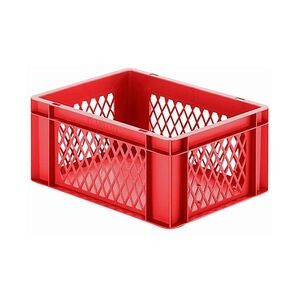 Transportkrat Euronorm plastic bak, krat TK1 400x300x175 rood