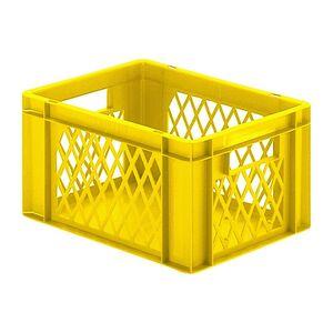 Transportkrat Euronorm plastic bak, krat TK1 400x300x210 geel