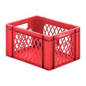 Transportkrat Euronorm plastic bak, krat TK1 400x300x210 rood