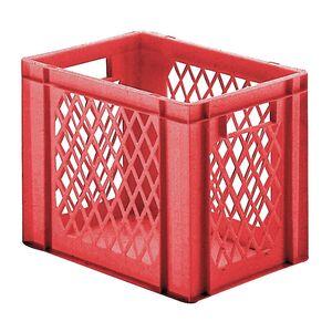 Transportkrat Euronorm plastic bak, krat TK1 400x300x320 rood