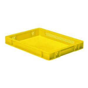 Transportkrat Euronorm plastic bak, krat TK1 400x300x50 geel
