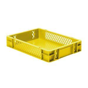Transportkrat Euronorm plastic bak, krat TK1 400x300x75 geel
