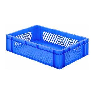 Transportkrat Euronorm plastic bak, krat TK1 600x400x145 blauw