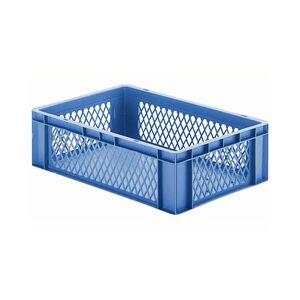 Transportkrat Euronorm plastic bak, krat TK1 600x400x175 blauw