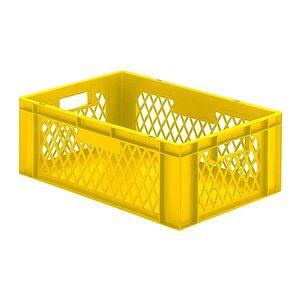 Transportkrat Euronorm plastic bak, krat TK1 600x400x210 geel