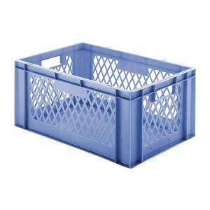 Transportkrat Euronorm plastic bak, krat TK1 600x400x270 blauw