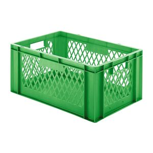 Transportkrat Euronorm plastic bak, krat TK1 600x400x270 groen