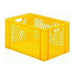 Transportkrat Euronorm plastic bak, krat TK1 600x400x320 geel