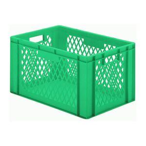 Transportkrat Euronorm plastic bak, krat TK1 600x400x320 groen