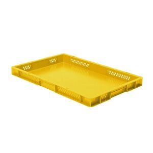 Transportkrat Euronorm plastic bak, krat TK1 600x400x50 geel