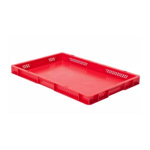 Transportkrat Euronorm plastic bak, krat TK1 600x400x50 rood