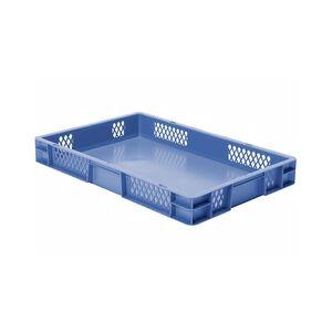 Transportkrat Euronorm plastic bak, krat TK1 600x400x75 blauw