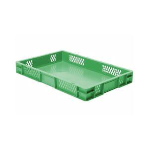 Transportkrat Euronorm plastic bak, krat TK1 600x400x75 groen