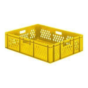 Transportkrat Euronorm plastic bak, krat TK1 800x600x210 geel