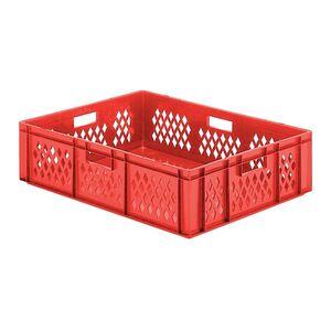 Transportkrat Euronorm plastic bak, krat TK1 800x600x210 rood