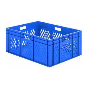 Transportkrat Euronorm plastic bak, krat TK1 800x600x320 blauw
