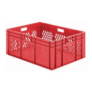 Transportkrat Euronorm plastic bak, krat TK1 800x600x320 rood