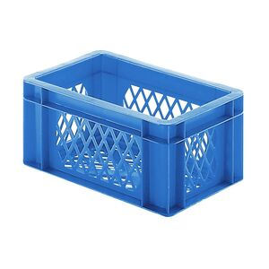 Transportkrat Euronorm plastic bak, krat TK2 300x200x145 blauw