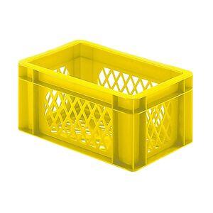 Transportkrat Euronorm plastic bak, krat TK2 300x200x145 geel