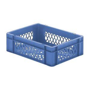 Transportkrat Euronorm plastic bak, krat TK2 400x300x120 blauw