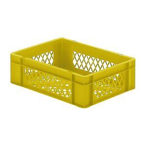 Transportkrat Euronorm plastic bak, krat TK2 400x300x120 geel