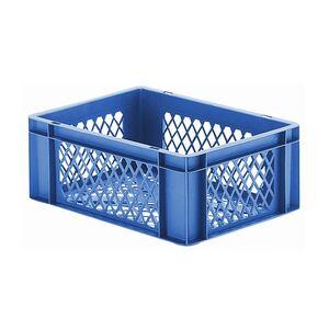 Transportkrat Euronorm plastic bak, krat TK2 400x300x145 blauw