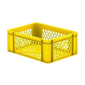 Transportkrat Euronorm plastic bak, krat TK2 400x300x145 geel