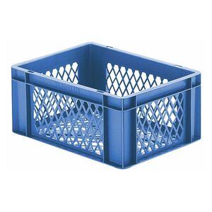 Transportkrat Euronorm plastic bak, krat TK2 400x300x175 blauw