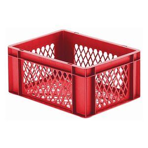 Transportkrat Euronorm plastic bak, krat TK2 400x300x175 rood