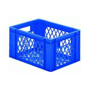 Transportkrat Euronorm plastic bak, krat TK2 400x300x210 blauw