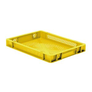 Transportkrat Euronorm plastic bak, krat TK2 400x300x50 geel