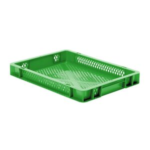 Transportkrat Euronorm plastic bak, krat TK2 400x300x50 groen