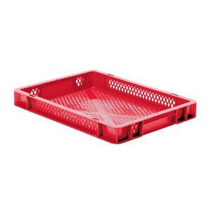 Transportkrat Euronorm plastic bak, krat TK2 400x300x50 rood