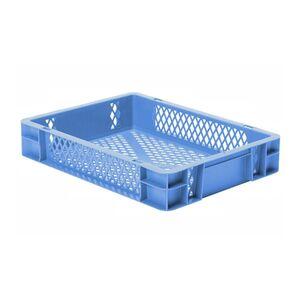 Transportkrat Euronorm plastic bak, krat TK2 400x300x75 blauw