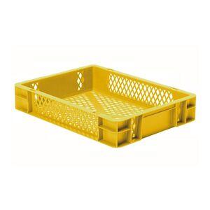 Transportkrat Euronorm plastic bak, krat TK2 400x300x75 geel