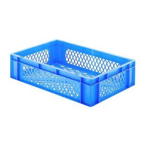 Transportkrat Euronorm plastic bak, krat TK2 600x400x145 blauw