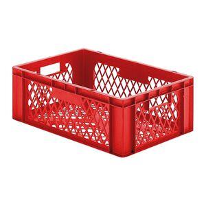 Transportkrat Euronorm plastic bak, krat TK2 600x400x210 rood