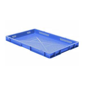 Transportkrat Euronorm plastic bak, krat TK2 600x400x50 blauw